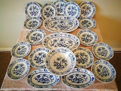 """Rossella Dinner Set onion pattern KAHLA Zwiebelmuster """" Blue Onion"""" used"""