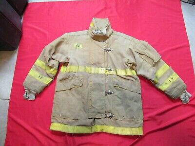 Vintage 48 X 35 Morning Pride Turnout Coat Jacket Firefighter Rescue Towing