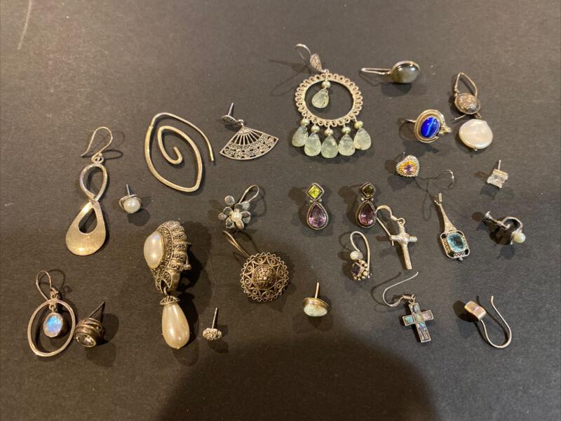 Vintage Sterling Silver LOT OF Single EARRING OR SCRAP