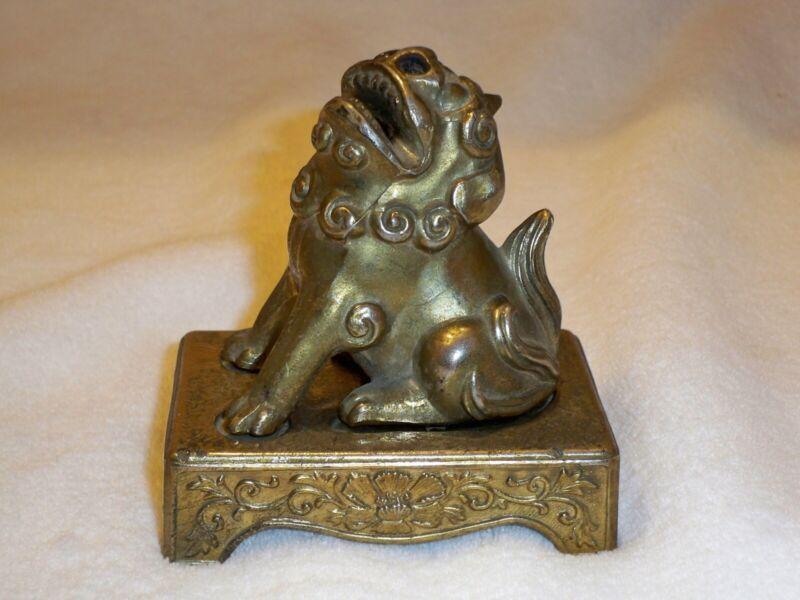 Vintage 2 Piece Foo Dog Censer/Incense Holder/Burner RELEASE STRESS/BAD ENERGY