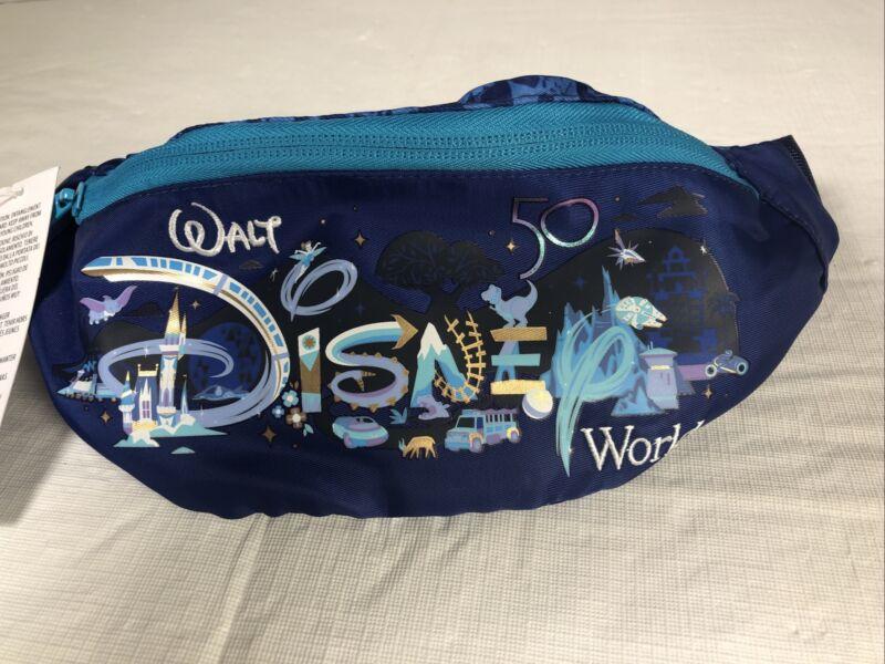Walt Disney World 50th Anniversary Sling Bag Zipper Fanny Pack In Hand