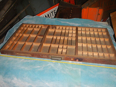 SHADOW BOXES, VINTAGE PRINTERS TYPE CASE HAMILTON WOODEN TYPE TRAY DRAWERS