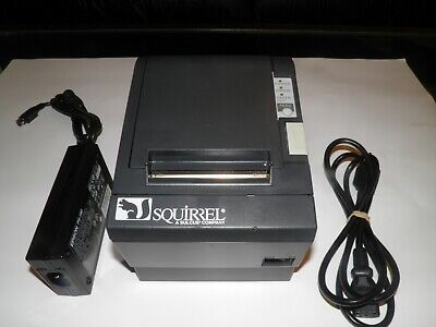 Squirrel Epson Tm-t88ii M129b Thermal Pos Label Receipt Printer W Power Supply