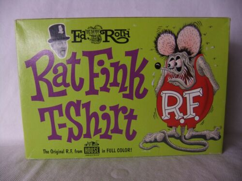 Big Daddy Ed Roth Rat Fink T-Shirt 1998 House Industries XL Boxed, Ratrod Hotrod