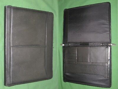 Note Pad 8.5x11 Black Leather Day Runner Planner Binder Franklin Covey Monarch