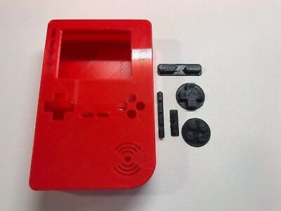 PiGRRL 2 All Red Game Boy Case & Buttons for Raspberry Pi 2/3. UK. Free Post