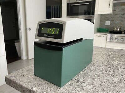 Acroprint Etc With Upper Plate Digital Automatic Time Stamp Punch Clock