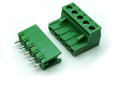 US Stock 10Set 2EDG 5 Pin 5P Plug-in Screw Terminal Block Connector 5.08mm Pitch