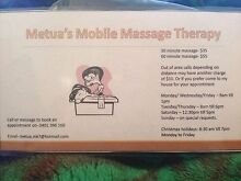 Mobile massage therapist St Marys Penrith Area Preview