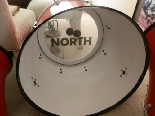 RARE  CUSTOM BASS DRUM DECAL  NORTH DRUMS  DECAL.