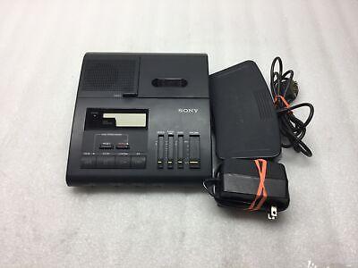 Sony Bm-840 Microcassette Transcriber W Ac Power Adapter Fs-85 Foot Pedal