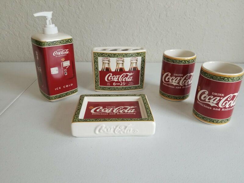 Vintage Coca Cola Bathroom Set NEW! F04