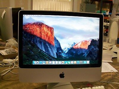 "Apple iMac 20"" Desktop A1224 CORE 2 DUO 2.26GHZ 2GB 160GB  EL CAPITAN OSX"