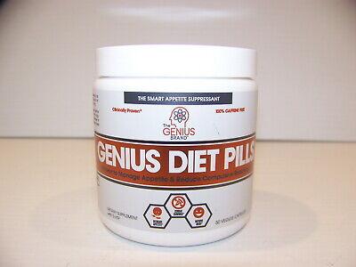 GENIUS DIET PILLS APPETITE SUPPRESSANT W/ 5-HTP & SAFFRON 50 VEGGIE CAPS ()