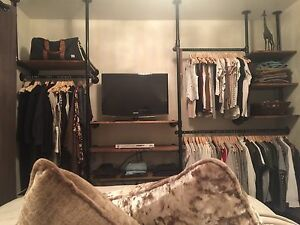 Custom Industrial Open Concept Closets