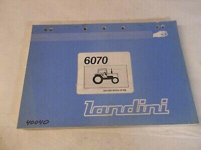 Landini 6070 Tractor Parts Book