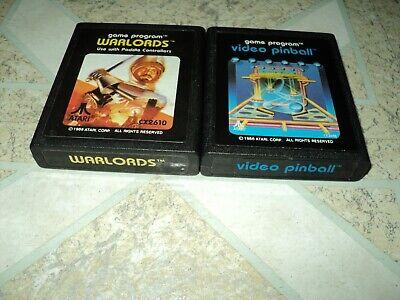 Warlords & Video Pinball Atari 2600 1986 Atari Corp