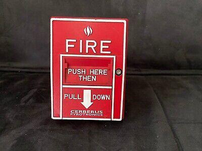 fire alarm pull station Cerberus pyrotronics MSI-10B//MSI-20B ADDRESSABLE
