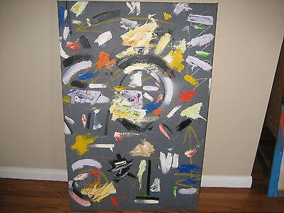 John Stango 30 X 46 Custom Abstract Art Acrylic On Canvas Painting