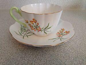 Shelley England Bone China Tea Cup And Saucer