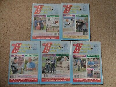 5x British Homing World racing pigeon birds magazines back issue May 2019