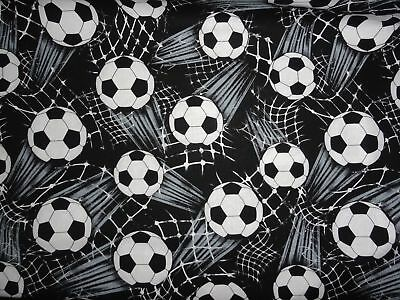 Sports Soccer Ball 100% Cotton Fabric Material by the Yard Fat Quarters 1/2 Yard](Soccer Ball Fabric)