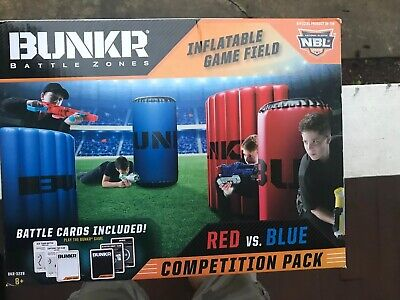 NBL Bunkr Battle Zones Red vs. Blue Competition Pack BNIB - Nerf Gun Battles