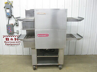 Blodgett Mt1828e Double Stack Electric Conveyor Pizza Oven W Stand