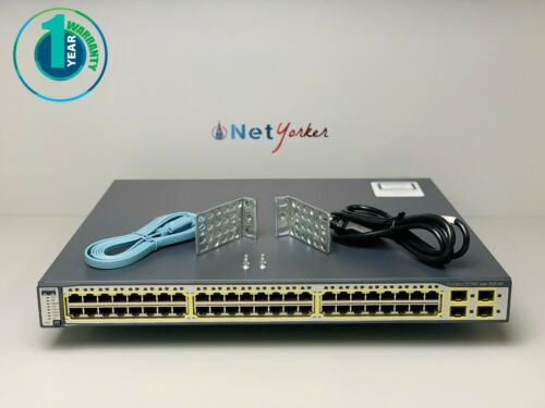 Cisco WS-C3750G-48PS-S • 48 Port PoE 3750G Gigabit Switch ■ SAME DAY SHIPPING ■