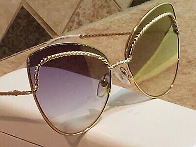 New Marc Jacobs Women's Gold Cat Eye Metal Sunglasses 255/S (Marc Jacobs Women's Cat Eye Sunglasses)