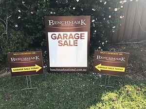 OFFERING SIGNAGE - ADVERTISING GARAGE SALES Moorebank Liverpool Area Preview
