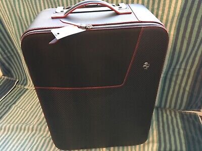Ferrari OEM Travel bag carbon fiber red stitch luggage overhead trolley 70004949