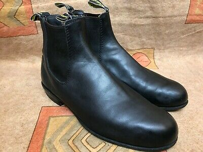 RM Williams Boots Chelsea Black Round Toe Sz Aus/UK 8   US 9  F(Narrow)  for sale  Shipping to Ireland