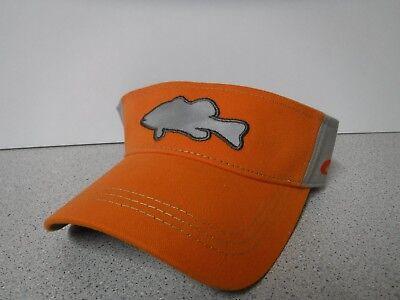 New Costa Colorblock Reflective Visor Orange/Grey Fish Logo Adjustable