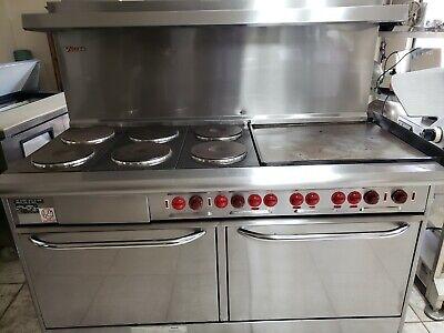 Vulcan 60 Range Electric 6 Burner 24 Griddle Double Full Size Ovens