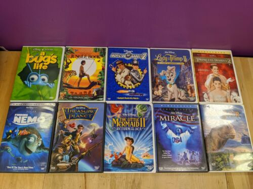 Lot of (10) Disney Family DVD Finding Nemo Miracle Jungle Book