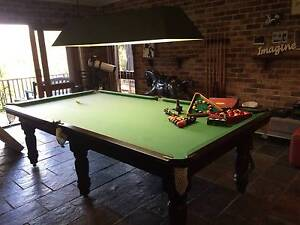 9ft Billiard Table, light & accessories. Woronora Sutherland Area Preview