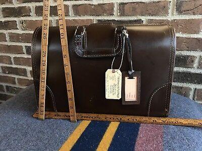 VINTAGE 1960's SADDLE BELTING LEATHER MACBOOK PRO GLADSTONE BRIEFCASE BAG R$898
