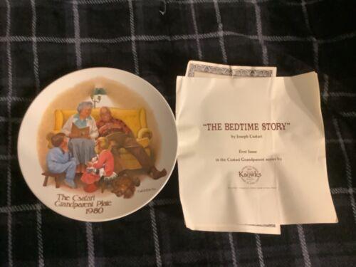 The Bedtime Story Joseph Csatari Grandparent Plate  Free Ship