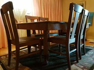 Antique Oak dining table with insert