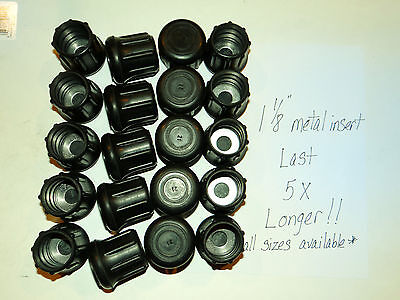 "(18) 1 1/8"" Heavy Rubber Cane Tips, Crutches, Walker Meta..."