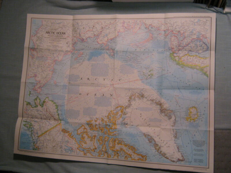 ARCTIC OCEAN MAP + PEOPLES OF THE ARCTIC National Geographic February 1983 MINT