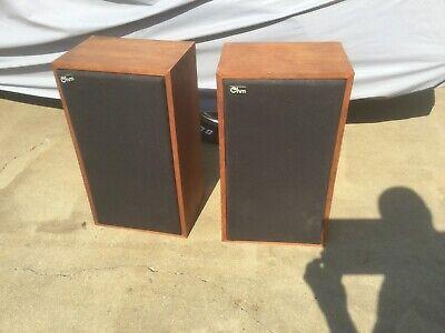 Ohm Acoustics C2 Speakers, Rare Cherry Veneer