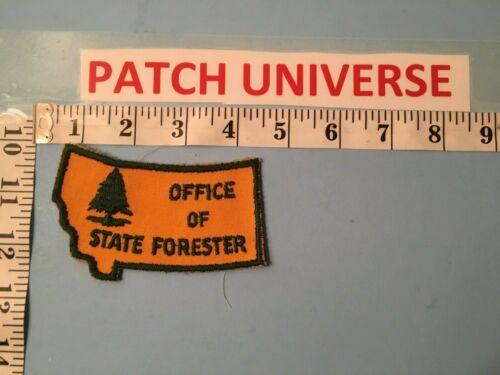 VINTAGE MONTANA OFFICE OF STATE FORESTER  SHOULDER  PATCH  J017
