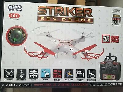 STRIKER RC SPY DRONE QUADCOPTER WITH Illustrate AND VIDEO  CAMERA