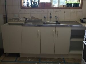 Various cupboards, pantry and sink for sale. Make an offer.