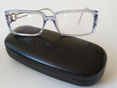 Original ! SALVATORE FERRAGAMO Designer optische Brille Damen Etui Tuch Italy