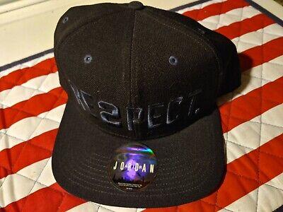 Nike Air Jordan Derek Jeter RE2SPECT Snapback Hat Black Pitch Blue