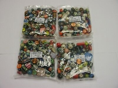 4 Pounds Assorted Shapes and Sizes India Ceramic Porcelain Beads Lot (India Shape)