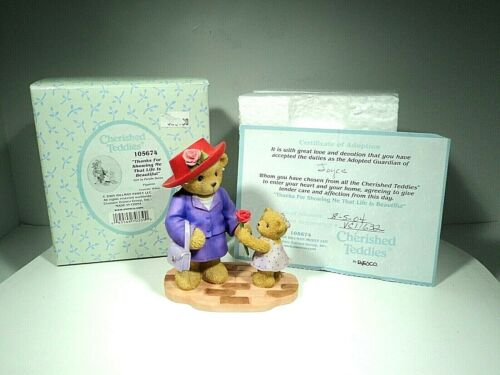CHERISHED TEDDIES 105674 THANKS FOR SHOWING ME LIFE IS BEAUTIFUL RARE C1  MIB